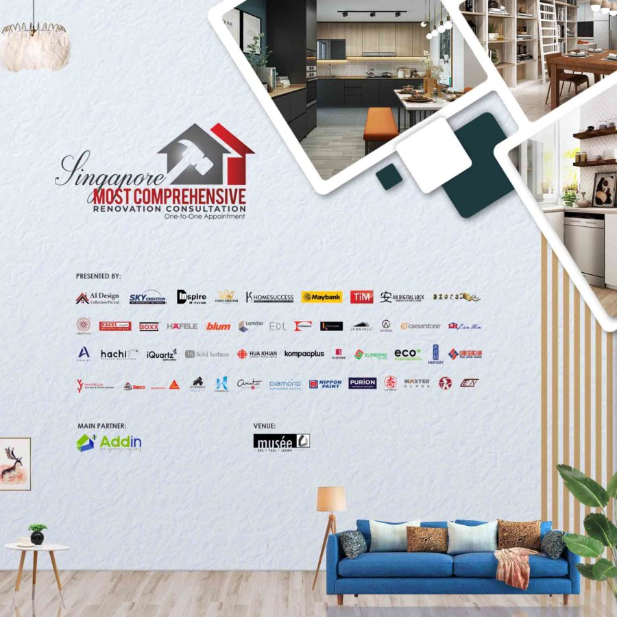 Singapore Most Comprehensive Renovation Consultation (One-to-One Appointment).